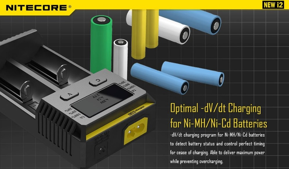Nitecore i2 Battery Charger (2-Bay) 2